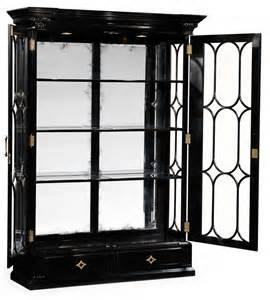 Large Black Display Cabinet Large Black Painted Glass Door Display Cabinet
