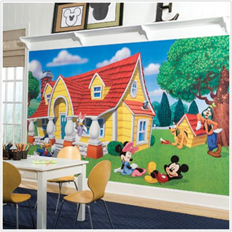 Mickey Mouse Clubhouse Wall Mural mickey and minnie mouse wall murals extra large mickiy