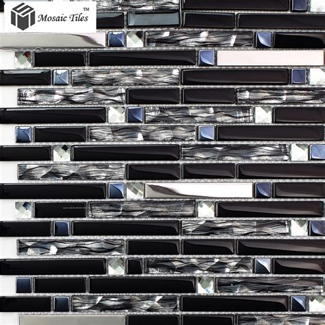 Metallic Kitchen Backsplash by Tst Glass Mental Tile Silver Stainless Steel Porcelain