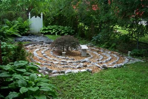 Backyard Labyrinth by Simple Labyrinth Garden Designs Meditation Garden Design