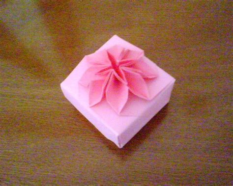 how to make an origami flower box pink origami flower box my origami boxes