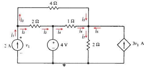 nodal analysis voltage across resistor nodal analysis w dependent current voltage source
