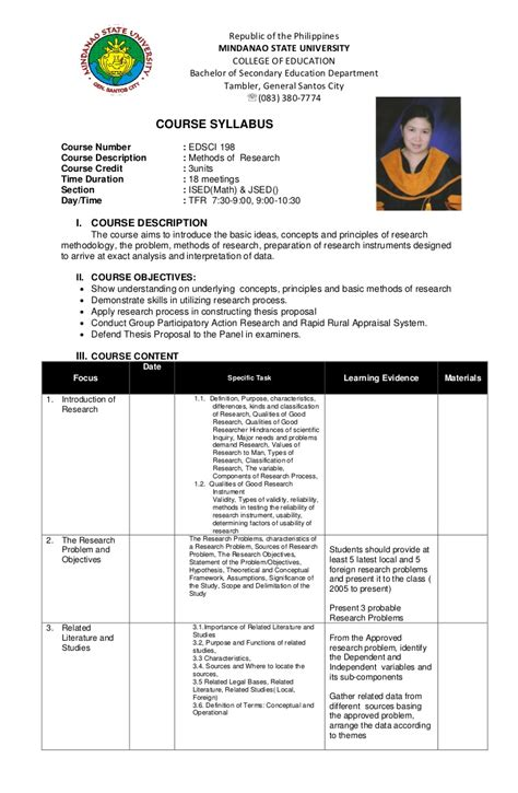 thesis about bullying slideshare syllabus ed sci 198 methods of research