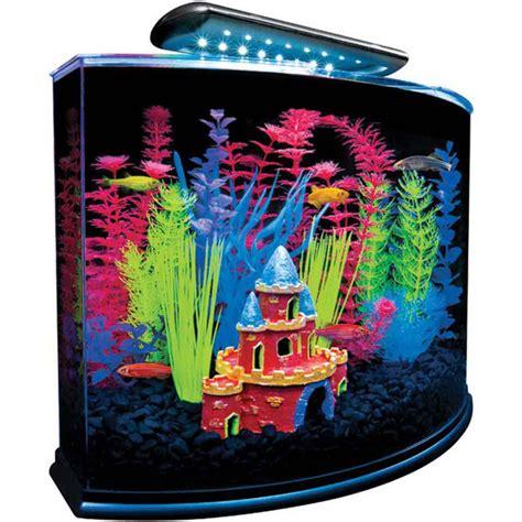 glofish aquarium kit  blue led  gallon