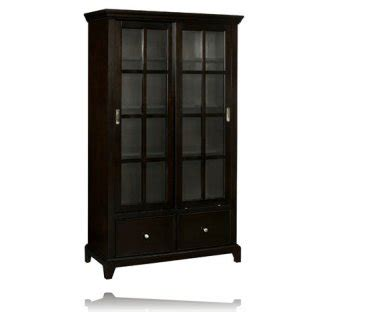 Bookcase With Sliding Glass Doors Metro Sliding Glass Door Bookcase Curio Cabinets Stein World 11875
