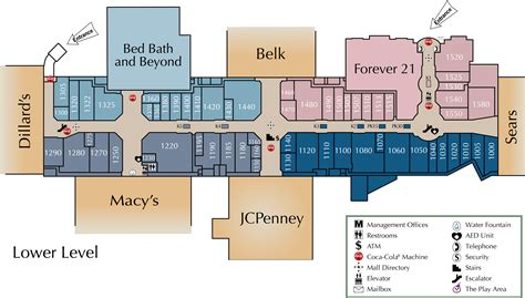 layout of valley view mall mall directory arbor place