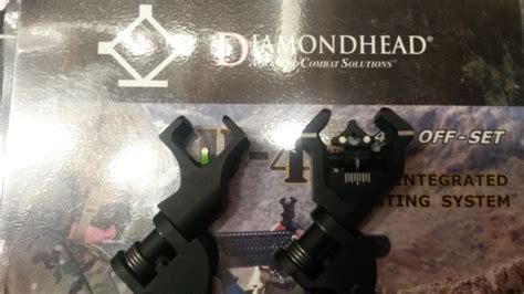 diamondhead d45 swing sights diamondhead d45 45 offset swing sights lnib ar15 com