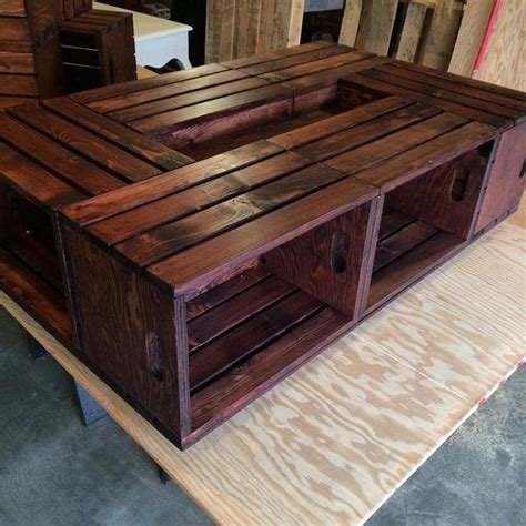 1000 ideas about crate coffee tables on wine