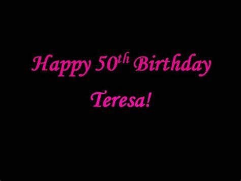 Teresa S 50th Birthday Slideshow Authorstream 50th Birthday Slideshow Templates
