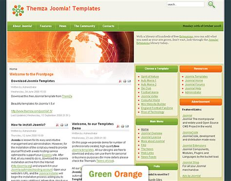 Free Joomla 1 5 X Templates Rise Of Technology By Themza Joomla Templates Free
