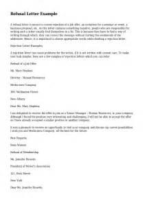 refusal letter exle