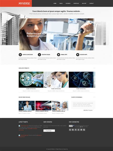 Myverse Responsive Website Template Responsive Website Templates Pro Website Templates Professional Responsive Website Templates