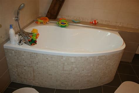 Pose Tablier Baignoire D Angle by Habiller Une Baignoire D Angle Tablier Wedi Et