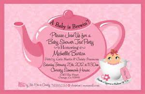 tea baby shower invitation baby shower