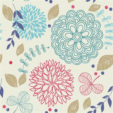 seamless pattern software free floral seamless pattern royalty free vector clip art image