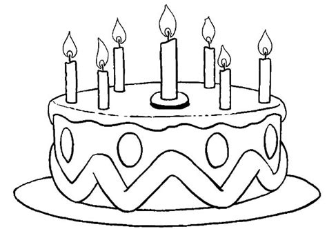 Printable Birthday Cake Coloring Pages Coloring Me Birthday Cake Color Page