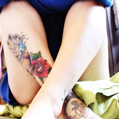 girl leg tattoos designs leg ideas shortlist