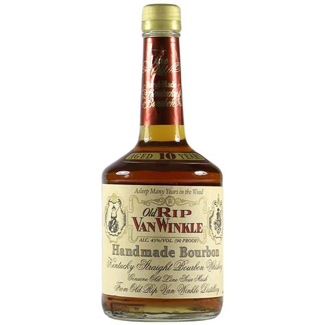 Handcrafted Bourbon - rip winkle 10 year handmade bourbon the