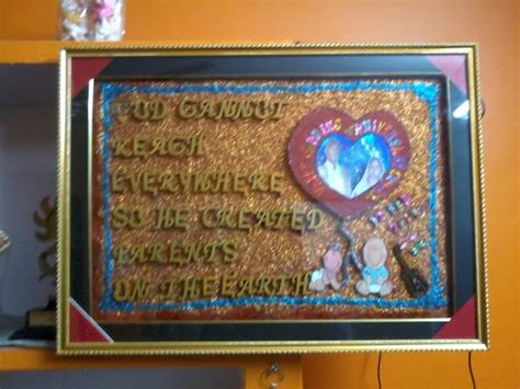 Handmade Gifts For Parents - handmade gift for parents anniversary from me