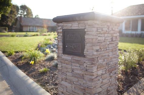 Traditional Bathrooms Ideas Yorba Linda Stacked Stone Mailbox Traditional Patio