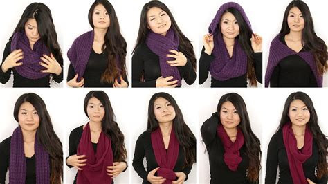 10 ways to wear an infinity circle scarf chung