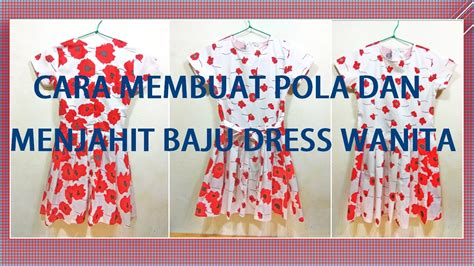 membuat pola baju boneka cara membuat pola dan menjahit baju dress wanita youtube