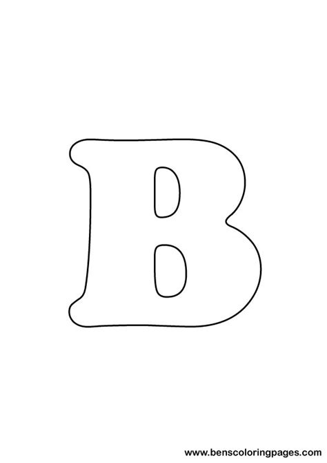 Drawing B Letter free letter b coloring page