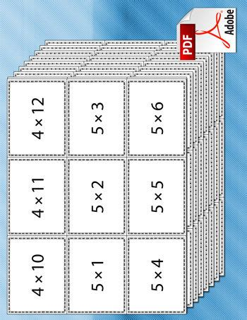 multiplication flash card template free multiplication flash cards tim s printables