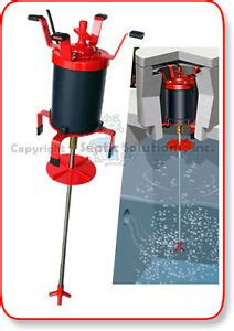 ultra air septic tank shaft aerator with 12 quot brackets ebay