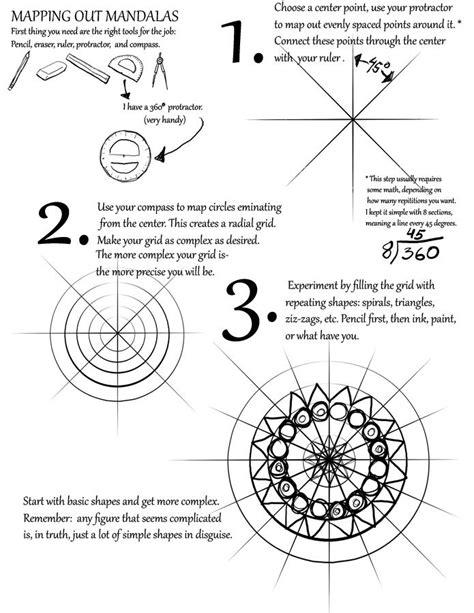 watercolor mandala tutorial mapping out mandalas tutorial by mattridgway deviantart