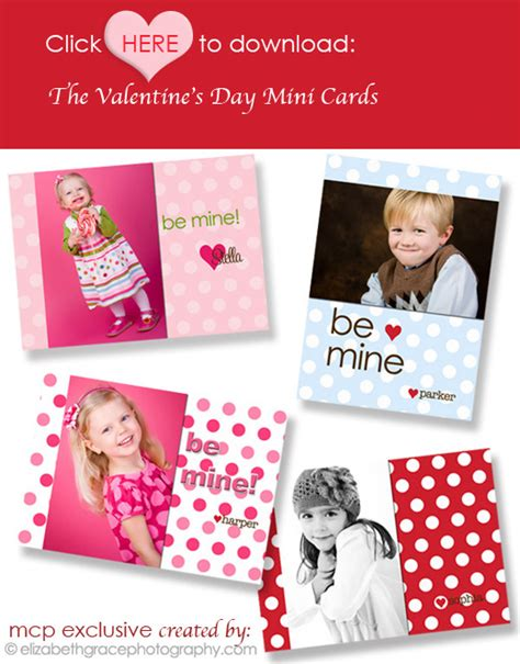 free valentine templates for photoshop free valentine s day mini cards great gift for customers