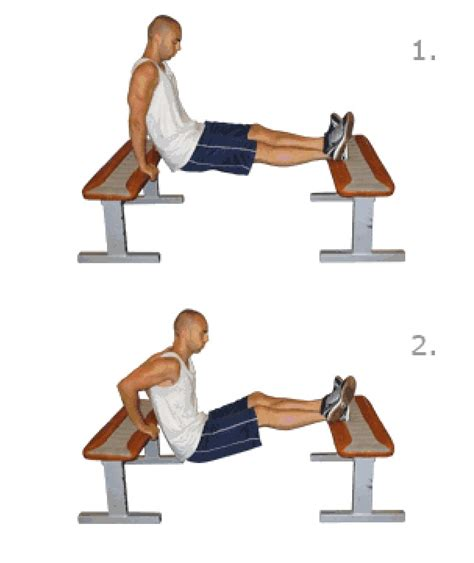 benching exercise step exercises and fitness arm exercises step 1 bench