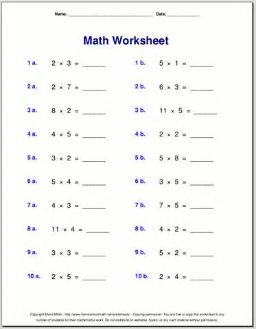 Dodging Counting Multiplication Worksheets For Grade 3