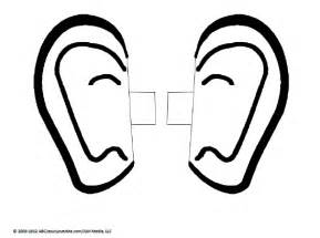 ear coloring page free coloring pages of ears