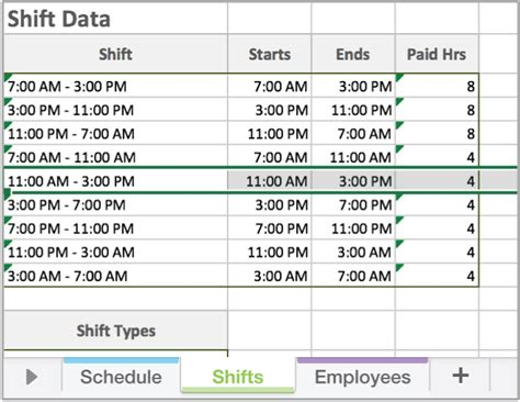 Free Excel Employee Scheduling Template When I Work Employees Work Schedule Template For Excel