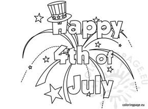 happy 4th july coloring