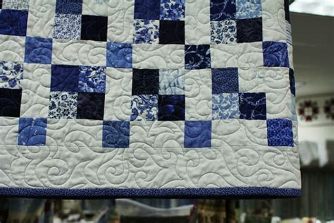 Blue And White Quilt Quilting By The Yard Blue White Jelly Rolls Back In Stock