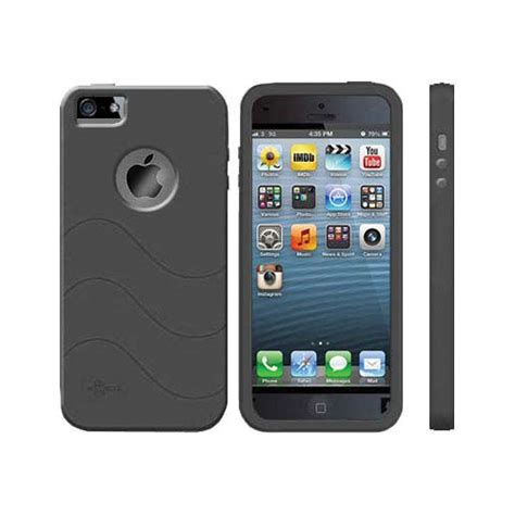 h iphone 5s cellsafe silicone for iphone 5 5s black csip5s bk b h