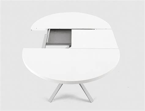 Table Ronde Extensible Blanche by Table Ronde Extensible Blanche Table Basse Design Verre Et