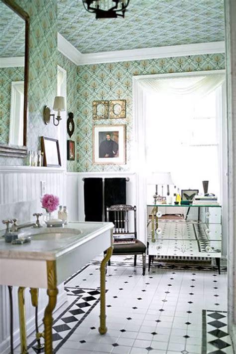 vintage bathroom wallpaper 15 stunning bathroom wallpaper design ideas