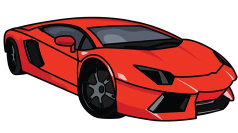 cartoon lamborghini lamborghini clipart cartoon pencil and in color