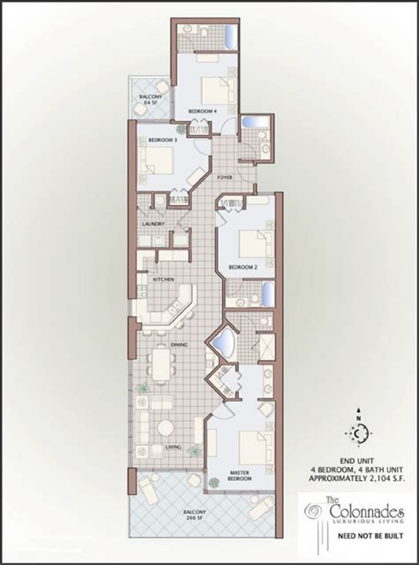 4 bedroom condo floor plans for gulf shores alabama colonnades 4 bedroom