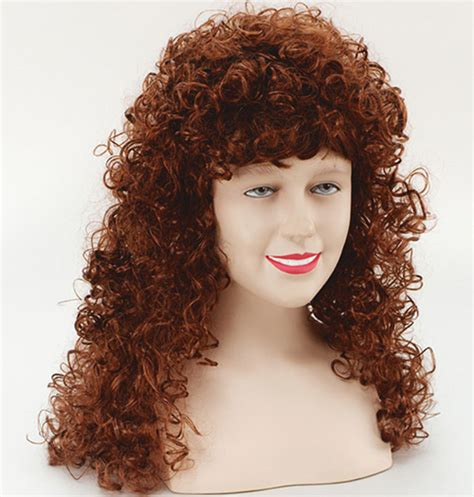 brands of curly perns long ginger curly perm wig fancy dress ebay