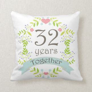 32nd Wedding Anniversary Gifts   T Shirts, Art, Posters