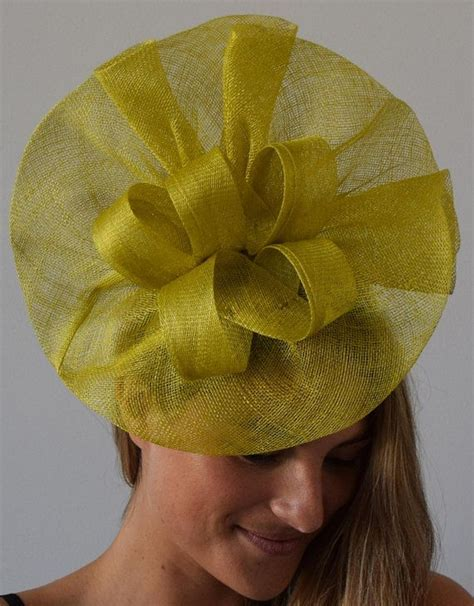 Tia Big Lime Green/Yellow Kentucky Derby Fascinator,Royal