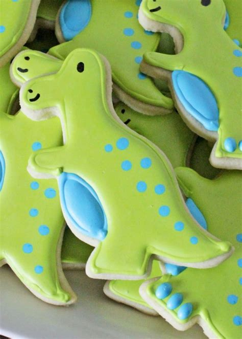 Decorate Home For Birthday Party how to decorate simple t rex dinosaur cookies