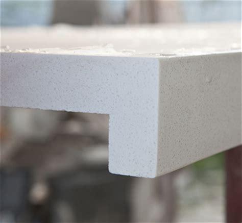 Quartz Countertops Edges by Hanstone Snow Quartz Countertops