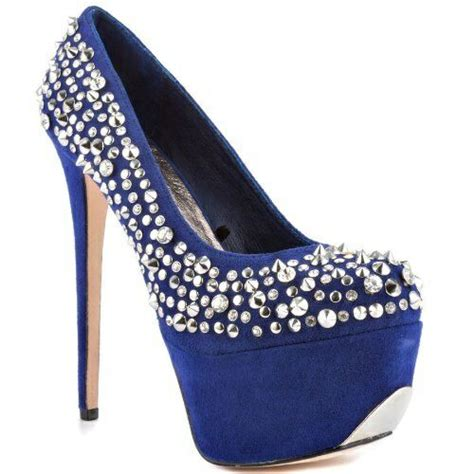 bedazzled high heels bedazzled high heel shoes stilettos sapphire blue