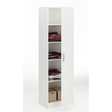 armoire largeur 60 cm klass armoire 60cm blanc perle achat vente armoire