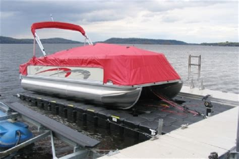 jet ski mount on pontoon boat drive on floating pontoon boat lifts